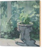 Golden Swan Garden Wood Print