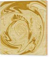 Golden Swirl Wood Print