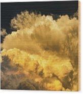 Golden Thunderhead Wood Print