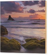 Golden Tides Wood Print
