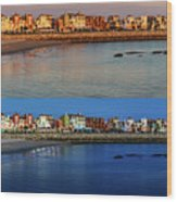 Golden To Blue Hour Puerto Sherry Cadiz Spain Wood Print