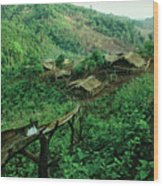 Golden Triangle Village Wood Print