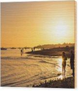 Golden Tropics Hot Beach Sun Wood Print