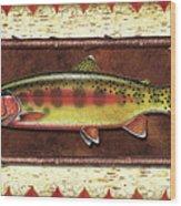 Golden Trout Lodge Wood Print
