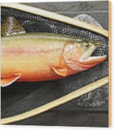 Golden Trout River Slice Wood Print by Eric Knowlton