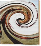 Golden Twist Wood Print by Norman  Andrus