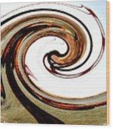 Golden Twist Wood Print