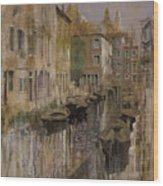 Golden Venice Wood Print