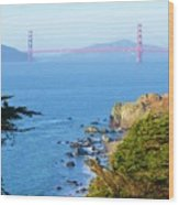 Golden View 142 Wood Print