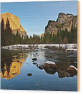Golden View - Yosemite National Park. Wood Print