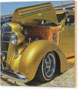 Golden Vintage Dodge Wood Print