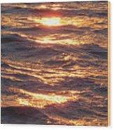 Golden Waters Wood Print