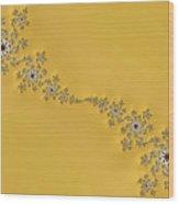Golden Wave Wood Print