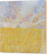Golden Wheat Field Wood Print