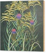 Goldenrod In Summer Wood Print