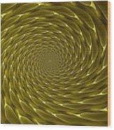 Goldenrod Vortex Wood Print