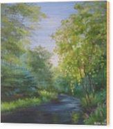Goldenstream Wood Print