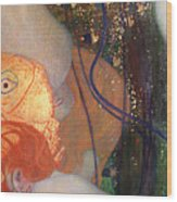 Goldfish Wood Print by Gustav Klimt