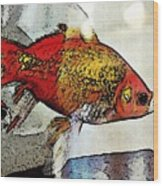 Goldfish Wood Print