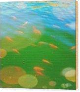 Goldfishes Wood Print