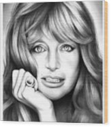 Goldie Hawn Wood Print