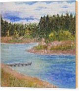 Goldwater Lake Wood Print