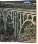 Goleta Hwy 101 Bridge Wood Print