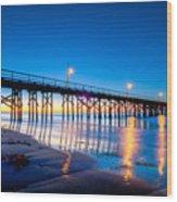Goleta Pier At Sunrise Wood Print