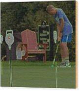 Golf Art 3 Wood Print