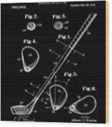 Golf Club Patent 1910 Black Wood Print
