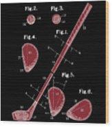 Golf Club Patent Drawing Black 2 Wood Print