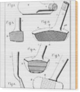 Golf Clubs Patent - Restored Patent Drawing For The 1903 A. F. Knight Golf Clubs Wood Print