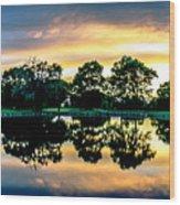 Golf Course Panorama Wood Print