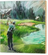 Golf In Crans Sur Sierre Switzerland 01 Wood Print