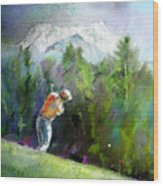 Golf In Crans Sur Sierre Switzerland 02 Wood Print