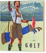 Golf In Deutchland Wood Print
