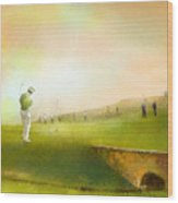 Golf In Scotland Saint Andrews 02 Wood Print