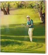 Golf In Spain Castello Masters  02 Wood Print