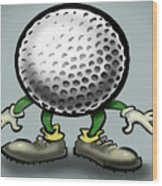 Golf Wood Print