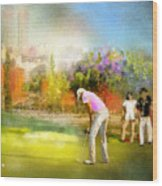 Golf Madrid Masters  02 Wood Print