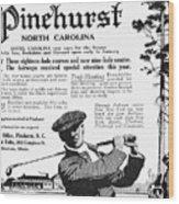 Golf: Pinehurst, 1916 Wood Print