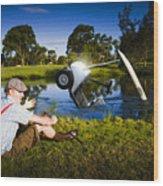 Golf Problem Wood Print