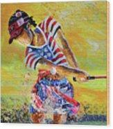 Golf Sandsation Wood Print