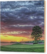 Golf Sunset Number 4 The Landing Reynolds Plantation Golf Art Wood Print