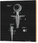 Golf Tee Patent 1899 Black Wood Print