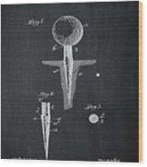 Golf Tee Patent 1899 Chalk Wood Print