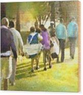 Golf Vivendi Trophy In France 04 Wood Print