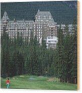 Golfer Heaven In Banff Wood Print