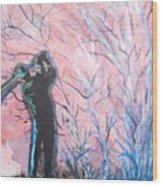Golfer In The Pink For Par II Wood Print