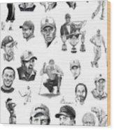 Golfers Wood Print